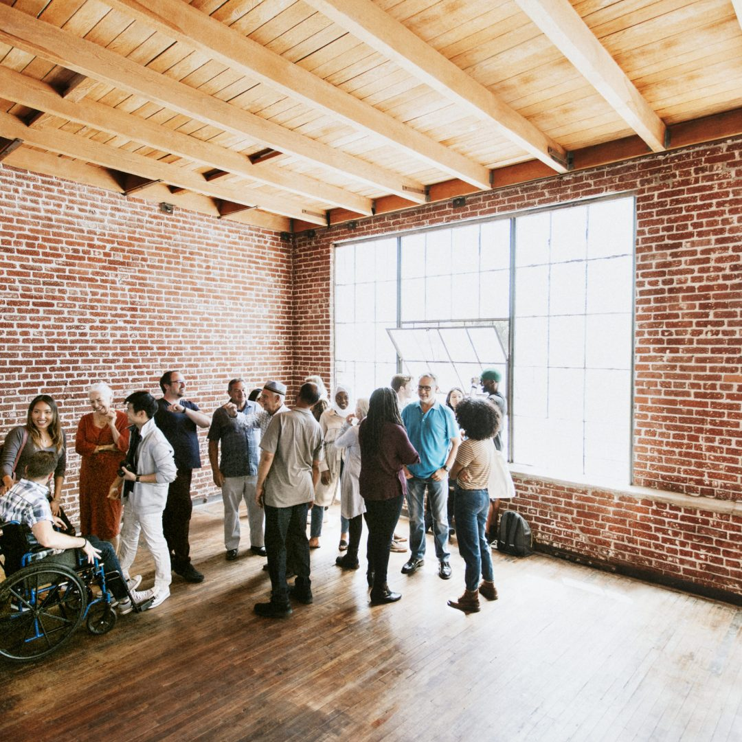 Diverse people in a workshop